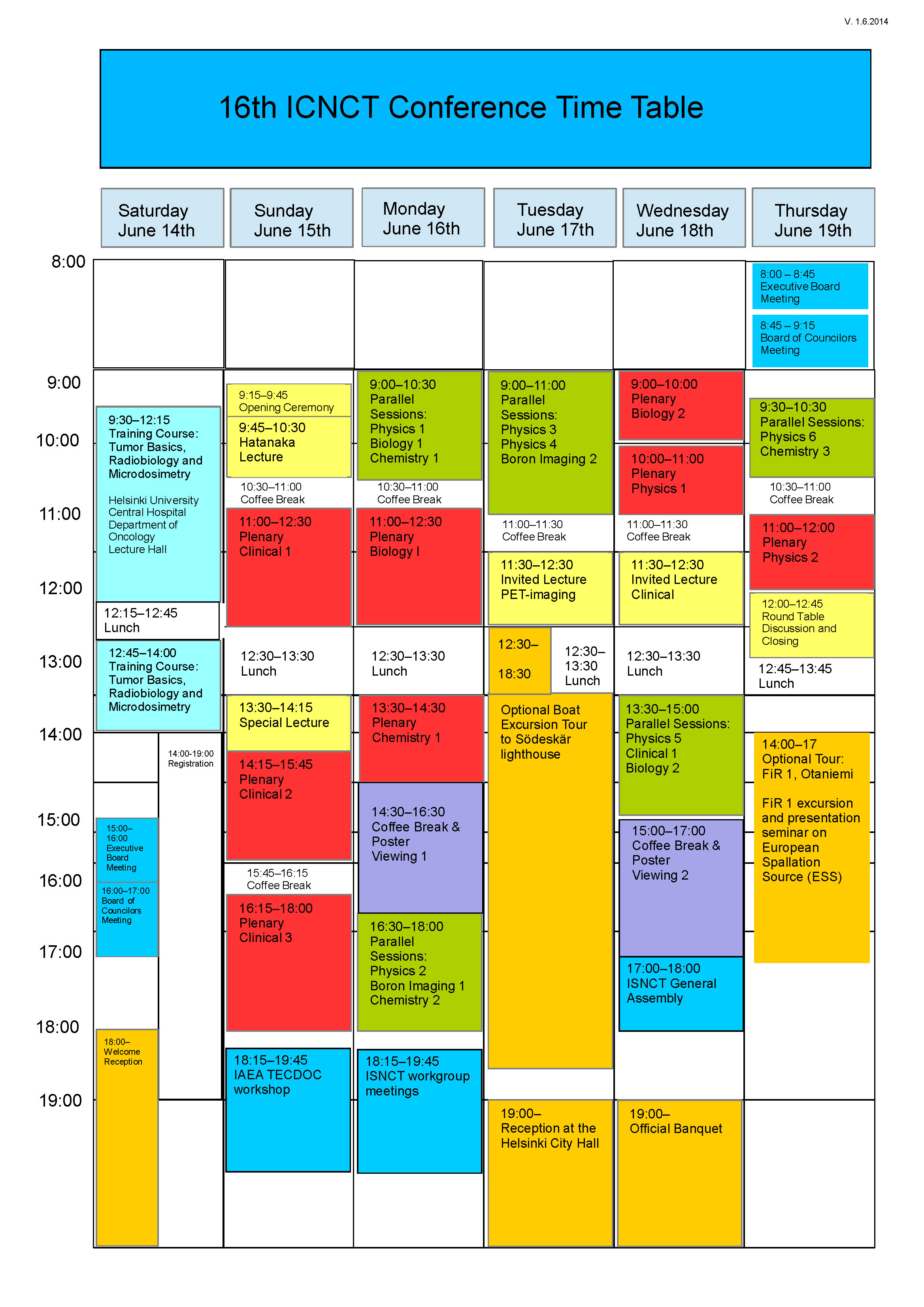 ICNCT-16 Timetable Final V1.6.2014